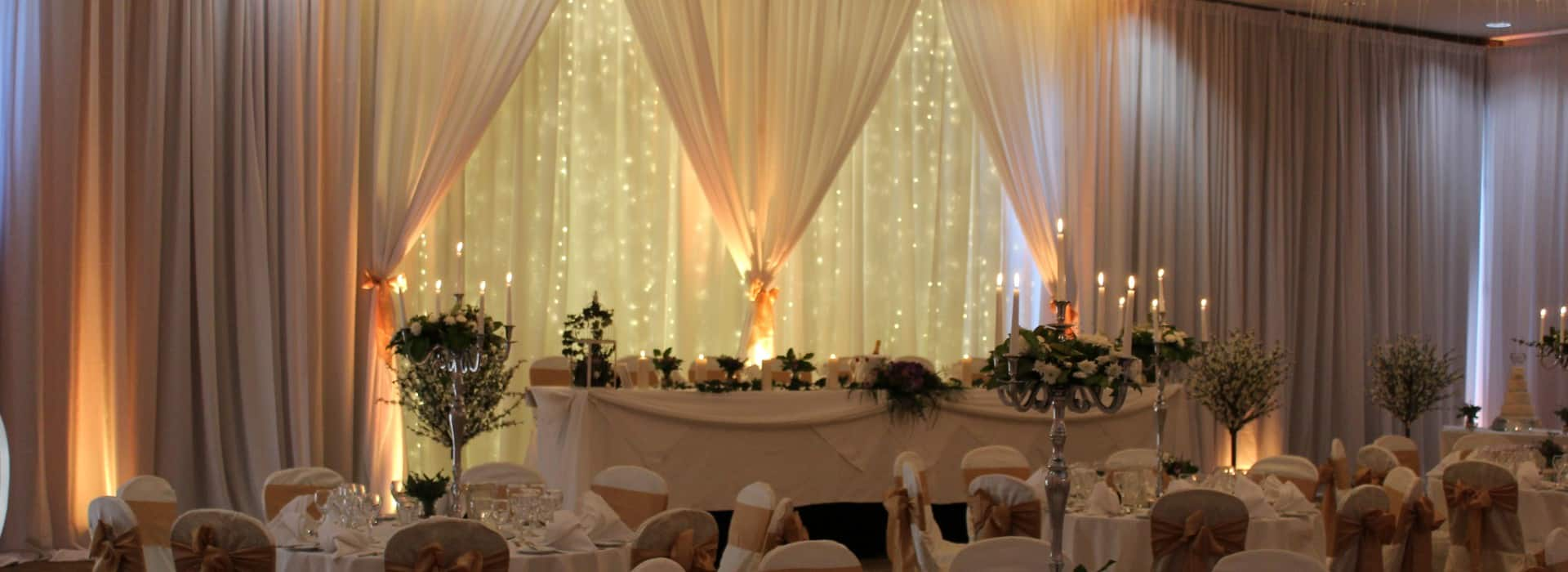 Custom Built Fairy Light Backdrop