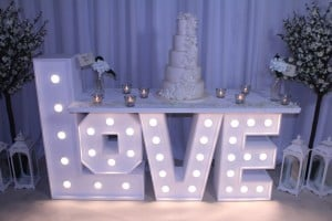 Wedding Products-Giant Letter Cake Table
