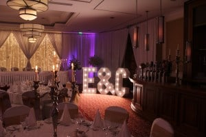 Wedding Products-Giant Letters Initials: E & C