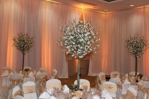 Wedding Products-Cherry Blossom Table Centrepiece White