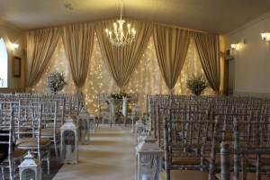 Wedding Products-Ivory Carpet With Floor Lanterns