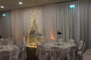 Wedding Products-Fairy Lights On Mirror With Custom Draping