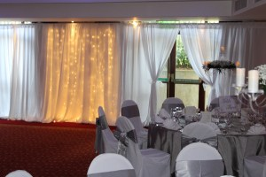 Wedding Products-Fairy Light Panel In Plain Draping With Plain Top