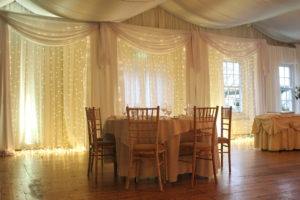 Fairy Light Backdrop Rathsallagh House Hotel Dunlavin Wicklow-Wedding Draping – Rathsallagh House Hotel – Wicklow – Ireland
