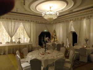 Full Room Draping, Powerscourt Hotel, Enniskerry, County Wicklow-Wedding Draping in Powerscourt Hotel, Enniskerry, County Wicklow