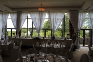 Window-Fairylights-Trim-Castle-Meath-Ireland-Giant Letters in Trim Castle Hotel, Trim, County Meath
