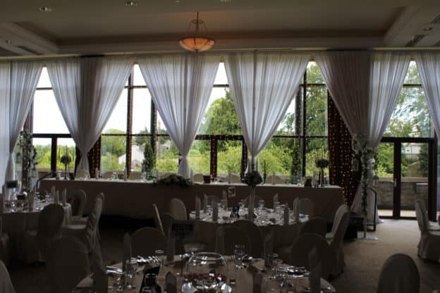 Window-Fairylights-Trim-Castle-Meath-Ireland-Giant Letters in Trim Castle Hotel, Trim, County Meath