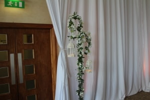 Wedding Products-Cherry Blossom White Shepard Crook Lantern