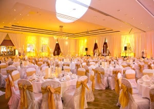 Wedding Products-Chair Cover With Gold Sash