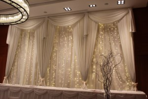 Wedding Products-Custom Fairy Light Backdrop With Swag