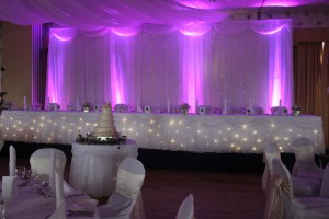 Wedding Products-Fairy Light Top Table & Cake Table Skirt