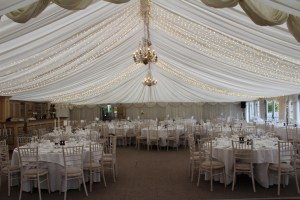 Fairylights On Marquee Ceiling-Wedding Products