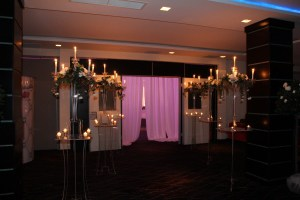 Wedding Products-Clear Candelabras on Clear Plinths
