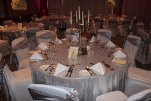 Wedding Products-Table Cloth Silver Sequin
