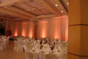 Wedding Products-Uplighters Lit In Amber