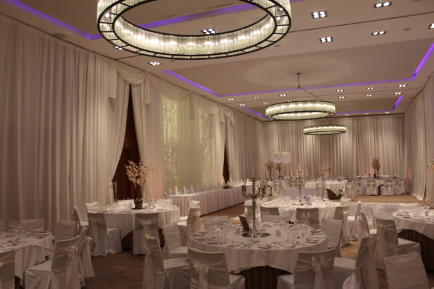 Floor-To-Ceiling-Wedding-Draping-Farnham-Estate-Cavan-Ireland-Wedding Draping – Farnham Estate – Cavan – Ireland