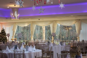 Fairy-Lights-In-Windows-With-Swag-On-Top-Ballymascanlon-Dundalk-Louth-Weddings By Wow-Weddings