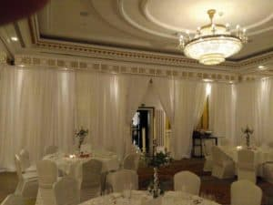 Full Room Custom Drape, Powerscourt Hotel, Enniskerry, County Wicklow-Wedding Draping in Powerscourt Hotel, Enniskerry, County Wicklow