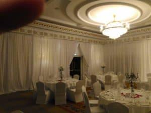 Full Room Drape, Powerscourt Hotel, Enniskerry, County Wicklow-Wedding Draping in Powerscourt Hotel, Enniskerry, County Wicklow