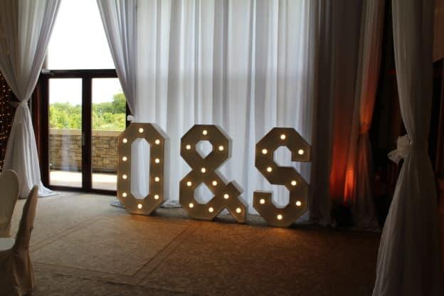 Light Up Letters O&S Trim Castle, Trim, Co Meath-Giant Letters in Trim Castle Hotel, Trim, County Meath