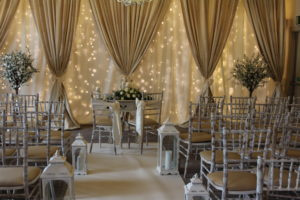 Wedding-Draping-Ivory-&-Gold-Darver-Castle-Dundalk-Louth-Weddings By Wow-Weddings