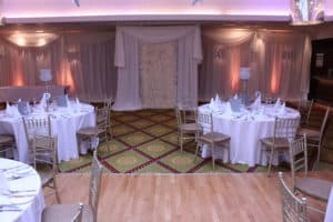 Flower-Wall-Ballymascanlon-Hotel-Dundalk-County Louth-Wedding Draping in Ballymascanlon Hotel, Dundalk, County Louth