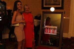 Selfie-Mirror-Finnstown-Castle-Hotel-Lucan-Dublin-County-Dublin-Wedding Draping in Finnstown Castle Hotel, Lucan, Dublin, County Dublin