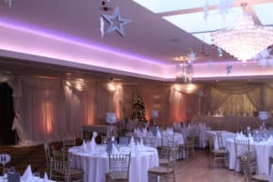 Uplighters-Amber-Ballymascanlon-Hotel-Dundalk-County Louth-Wedding Draping in Ballymascanlon Hotel, Dundalk, County Louth