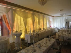 Wedding Fairy Light Backdrop, Raheen Woods Hotel, Athenry, Co. Galway