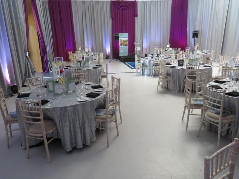 Event Drapes Silver & Purple, Maynooth University, Maynooth, Co. Kildare, Ireland