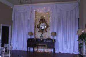 Wedding Drape With Fair Lights On Mirror, Bellurgan Park, Bellurgan, Dundalk, Co. Louth