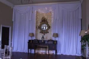 Wedding Drape With Fair Lights On Mirror, Bellurgan Park, Bellurgan, Dundalk, Co. Louth
