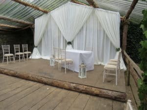 Wedding Draping For Outside Ceremony, Bellurgan Park, Bellurgan, Dundalk, Co. Louth
